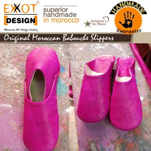 Original leather women slippers babouche
