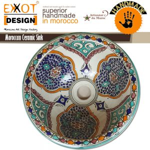 Moroccan ceramics 100% handwork washbasin directly from manufacturer