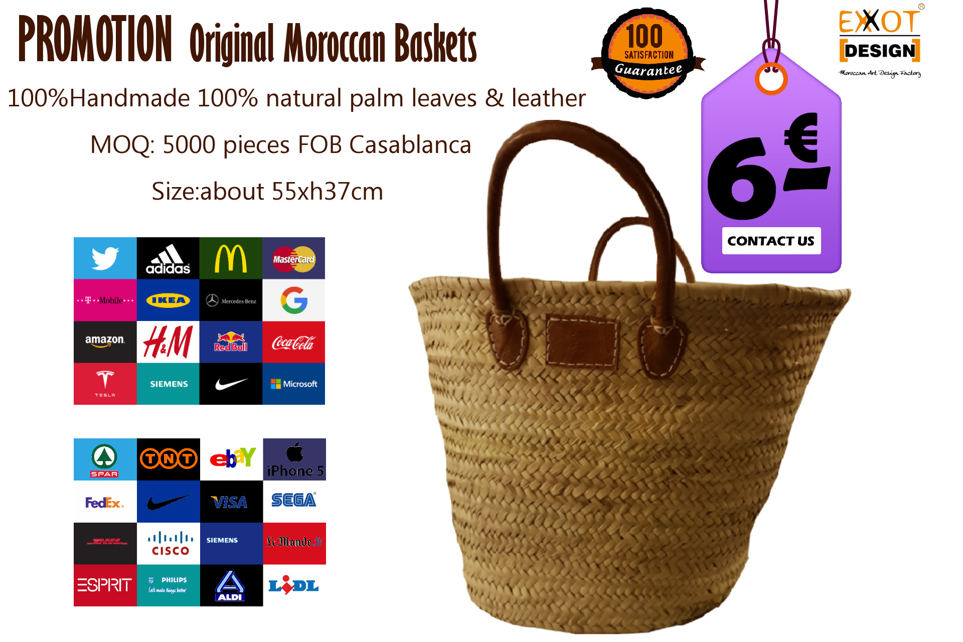 baskets, moroccan baskets,werbeartikel,promotion,logo